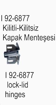 SLX I 92-6877 Kilitli-Kilitsiz Kapak Menteşesi