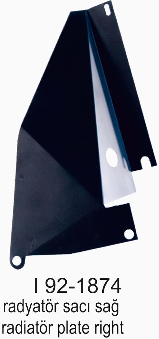 SMX SL200-300-400I 92-1874 Radyatör Sacı Sağ